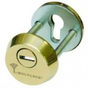 Защитная броненакладка Mul-T-Lock защищает цилиндровые механизмы от механического взлома и повреждений, 3-й класс безопасности. Для установки на двери толщиной 60-65 мм. Материал - закаленная сталь, дополнительный закаленный диск, который вращается. Крепи