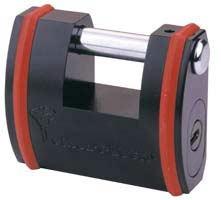 Покрытие: чёрное электрофорезное.  Корпус из закалённой стали.  Скоба из закалённой борированной стали.