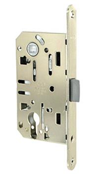 механизмы для межкомнатных дверей под цилиндр.Материал: сталь Размеры: 130 х 75 мм Торцевая планка 195 мм