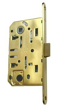 Механизм для межкомнатных дверей под поворотник.Материал: сталь Размеры: 130 х 75 мм Торцевая планка 195 мм