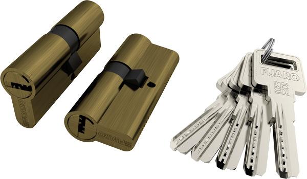 Цилиндры R600 60/68/70/80/90 mm латунь/хром/бронза.